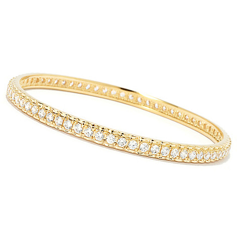134-509 - Brilliante® Round Cut Simulated Diamond Slip-on Bangle Bracelet