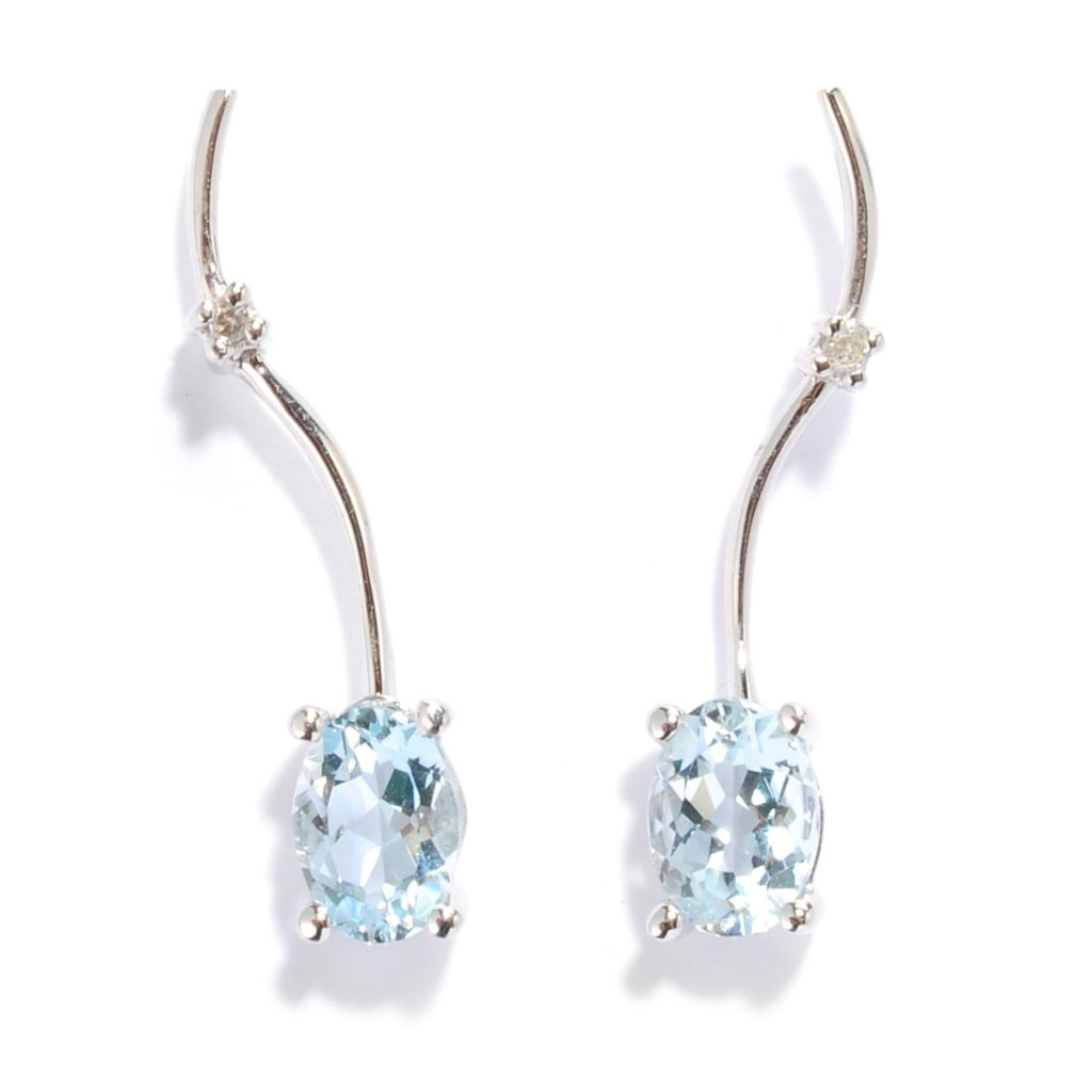 134-575 - The Vault from Gems en Vogue II 14K Gold 1.18ctw Aquamarine & Diamond Earrings
