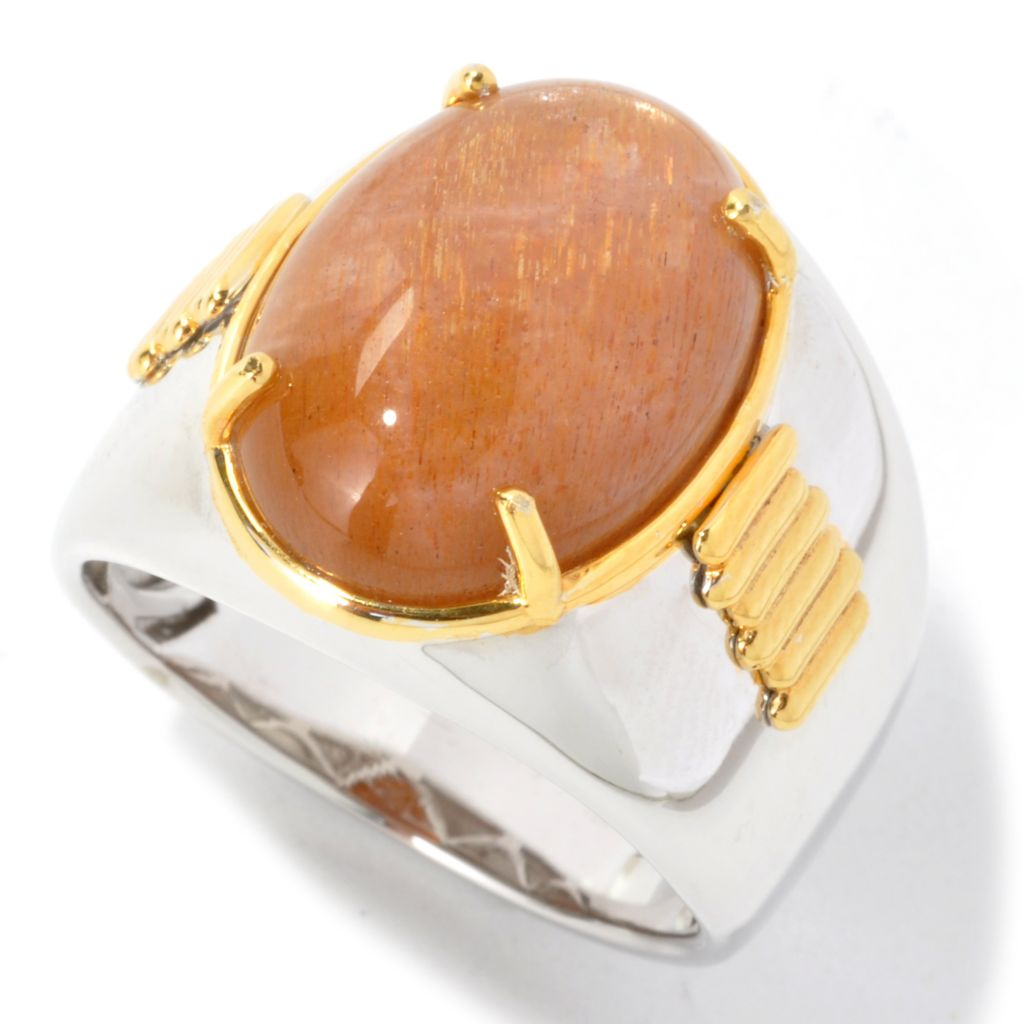 134-802 - Men's en Vogue II 18 x 13mm Oval Sunstone Ring