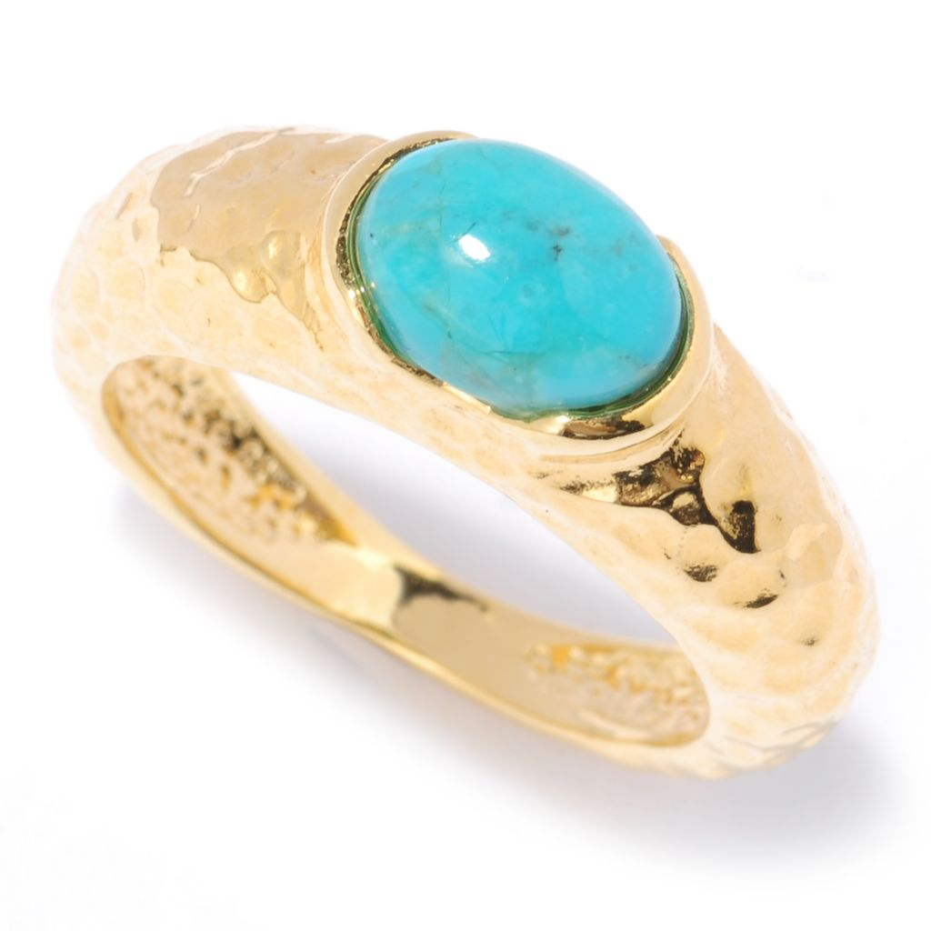 134-819 - Toscana Italiana Gold Embraced™ 1.20ctw Gemstone Hammered Stack Band Ring