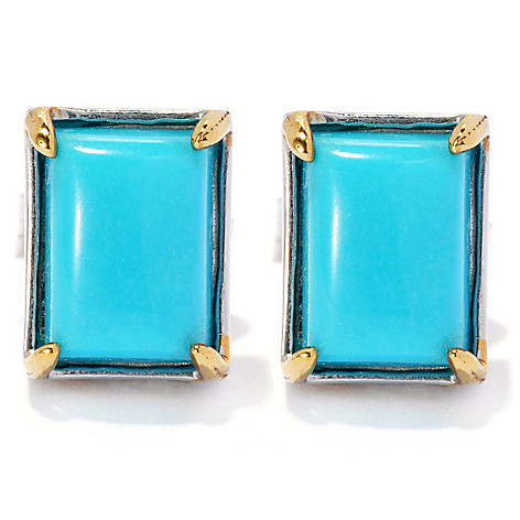 134-903 - Gems en Vogue Sleeping Beauty Turquoise Stud Earrings