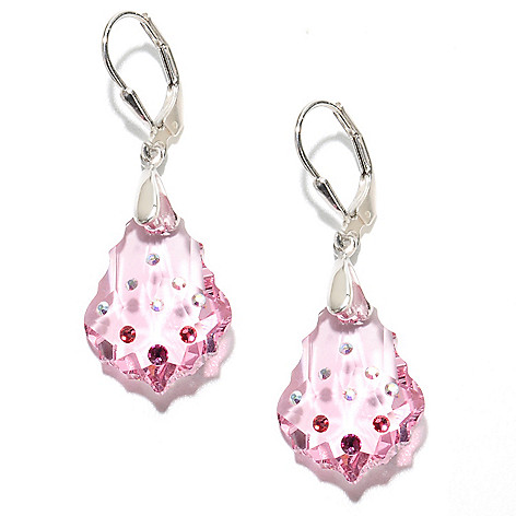 135-096 - Adaire™ 1.5'' Sterling Silver Fancy Cut Earrings Made w/ Swarovski® Elements