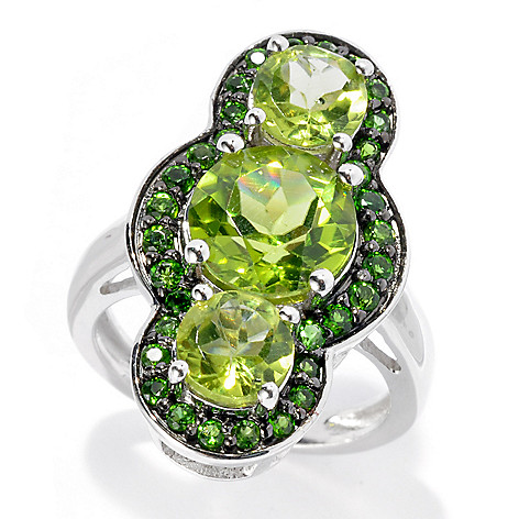 135-103 - Gem Treasures Sterling Silver 5.09ctw Multi Gem ''Kellie Anne'' North-South Ring