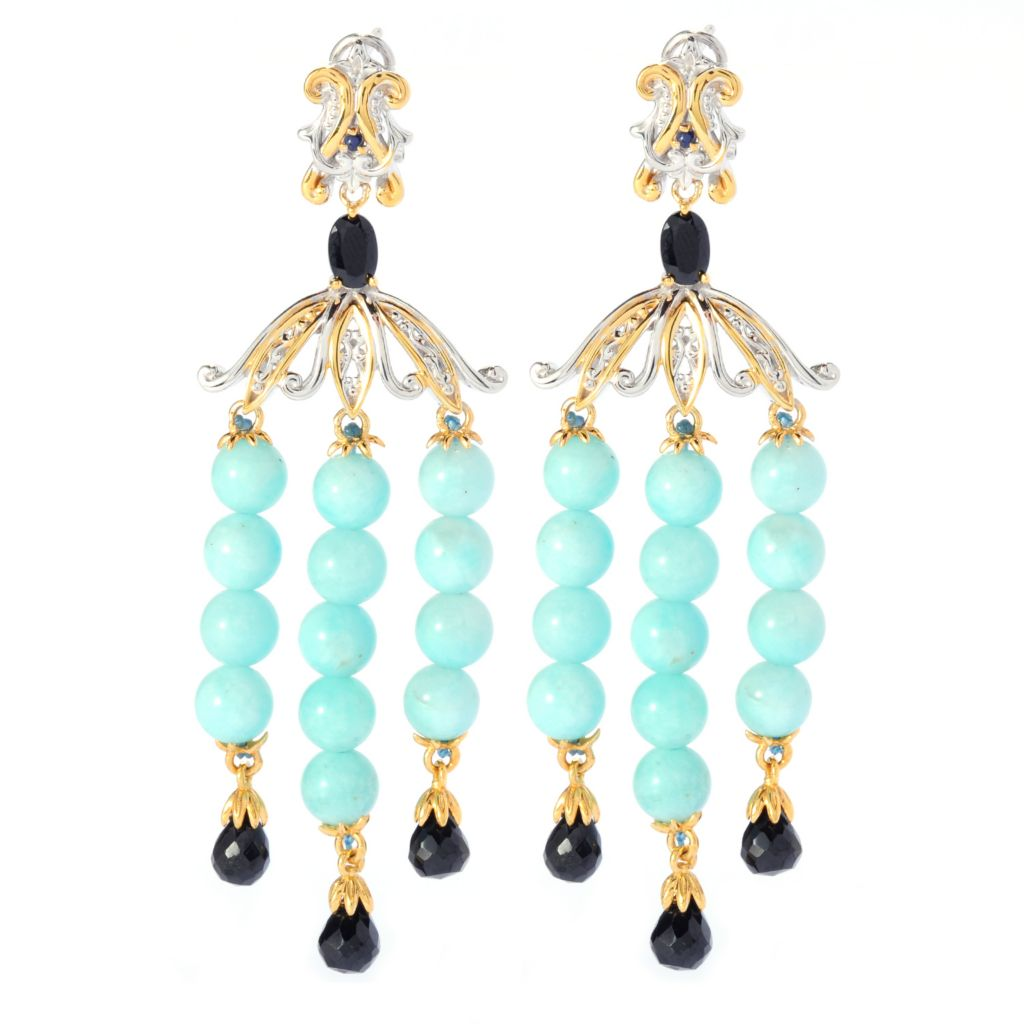 "135-182 - Gems en Vogue II 3"" Gemstone Bead Chandelier Earrings"