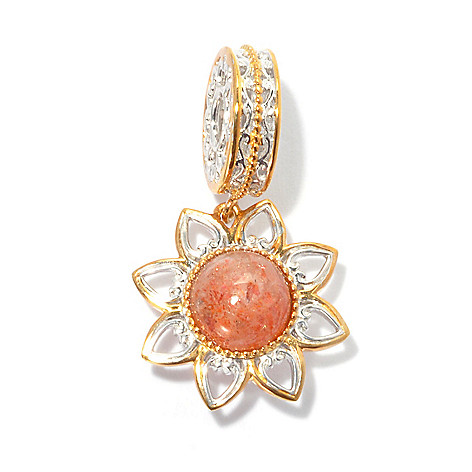 135-189 - Gems en Vogue II Sunstone Flower Drop Charm