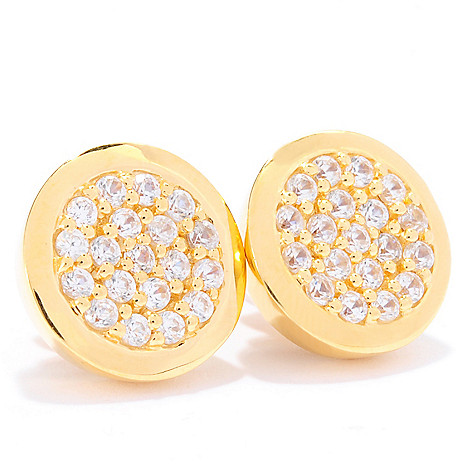 135-199 - Dallas Prince Designs 1.90ctw White Zircon Button Earrings