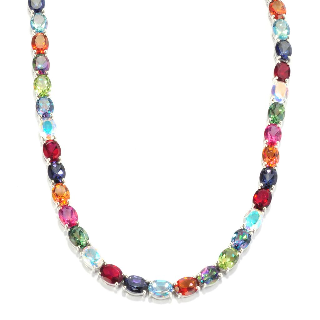 135-254 - NYC II Multi Color Quartz Tennis Necklace