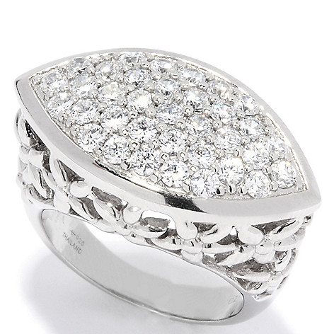 135-316 - Brilliante® Platinum Embraced™ 1.05 DEW Simulated Diamond East-West Marquise Ring