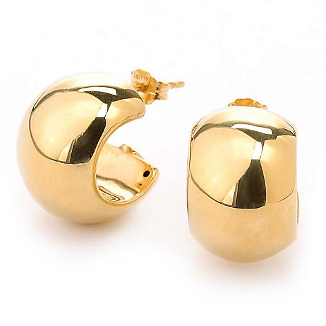 135-330 - Viale18K® Italian Gold Polished Huggie Hoop Earrings