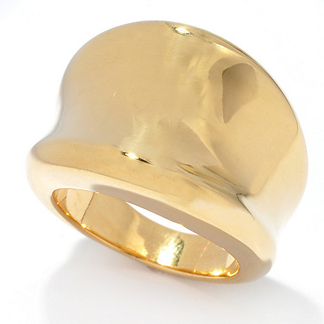 135-335 - Viale18K® Italian Gold Polished Concave Band Ring