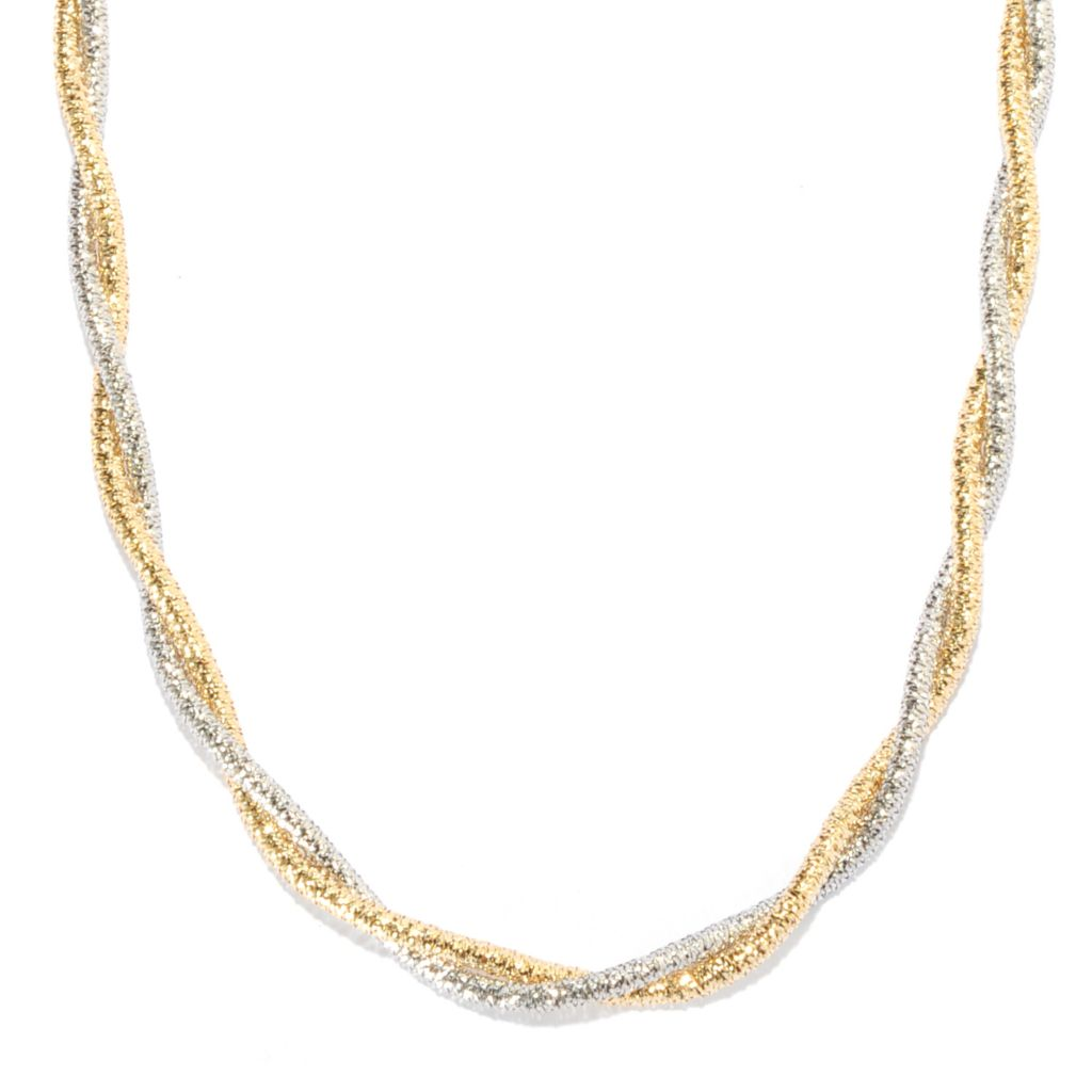 "135-342 - Viale18K® Italian Gold 19.5"" Two-tone Twisted Stretch Necklace, 8.8 grams"