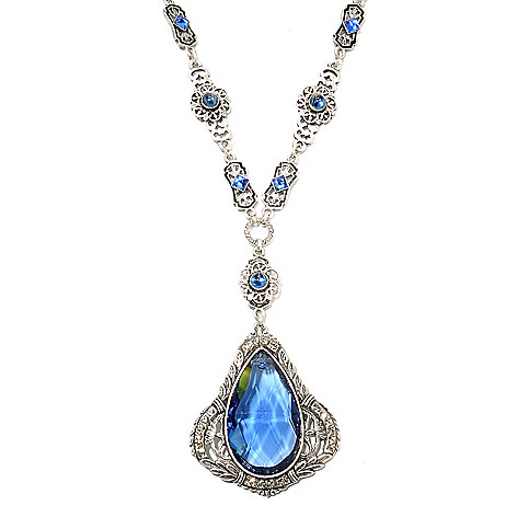 135-352 - Sweet Romance™ 20.5'' Crystal & Glass Bohemian Art Deco Inspired Drop Necklace