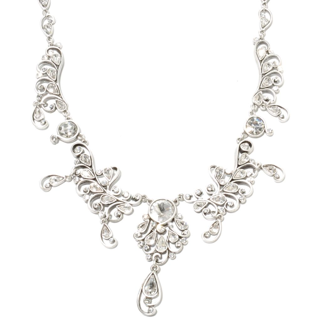 "135-356 - Sweet Romance™ 16.75"" Crystal Jazz Age Inspired Collar Necklace"