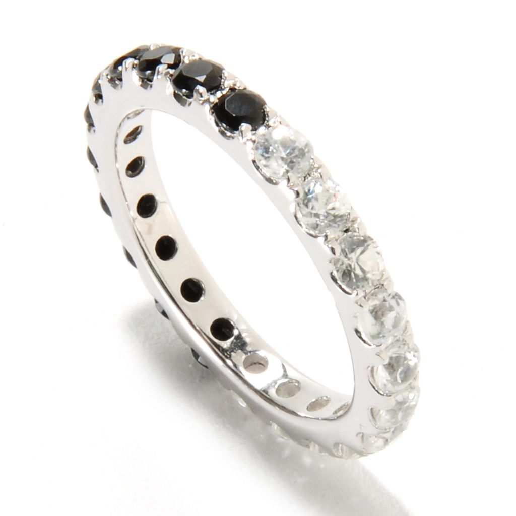 135-375 - NYC II 1.99ctw Black Spinel & White Zircon Double-Sided Eternity Band Ring