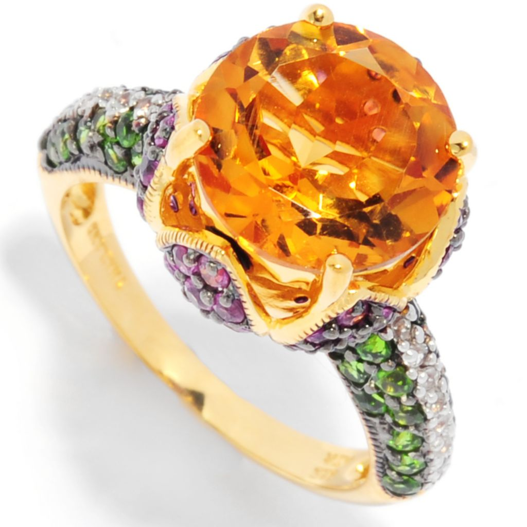 135-401 - NYC II 5.66ctw Multi Gemstone Tulip Ring