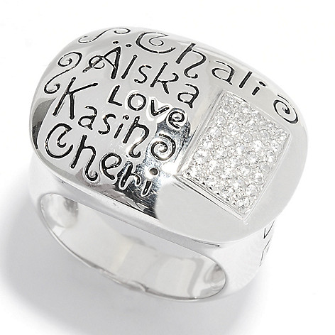 135-406 - NYC II White Zircon ''Languages of Love'' Dome Ring