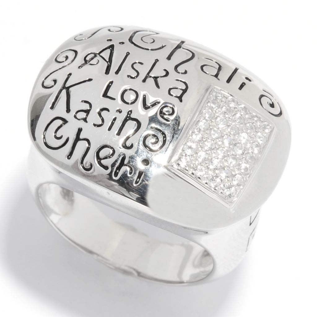 "135-406 - NYC II White Zircon ""Languages of Love"" Dome Ring"