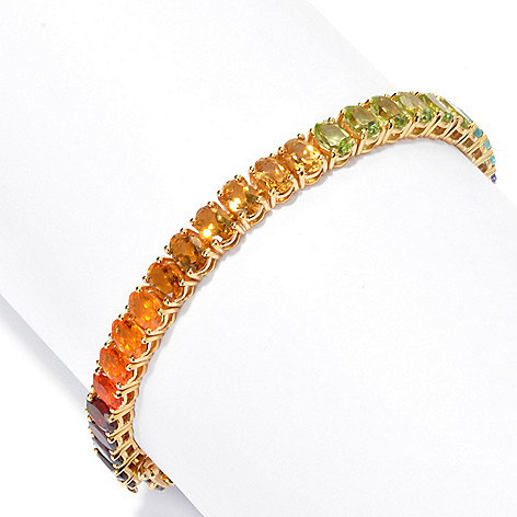 135-516 - NYC II® 14.70ctw Multi Gemstone Exotic Rainbow Tennis Bracelet