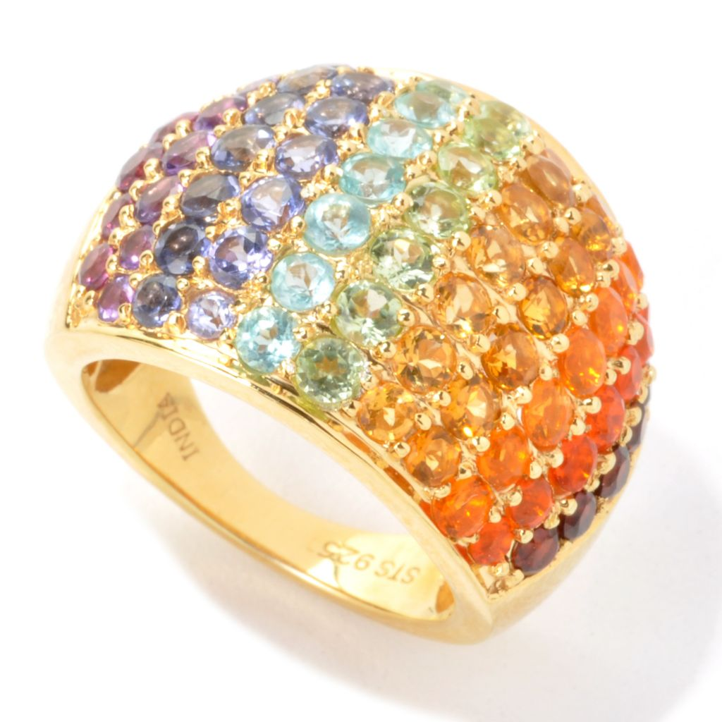 135-517 - NYC II 3.36ctw Multi Gemstone Exotic Rainbow Dome Ring