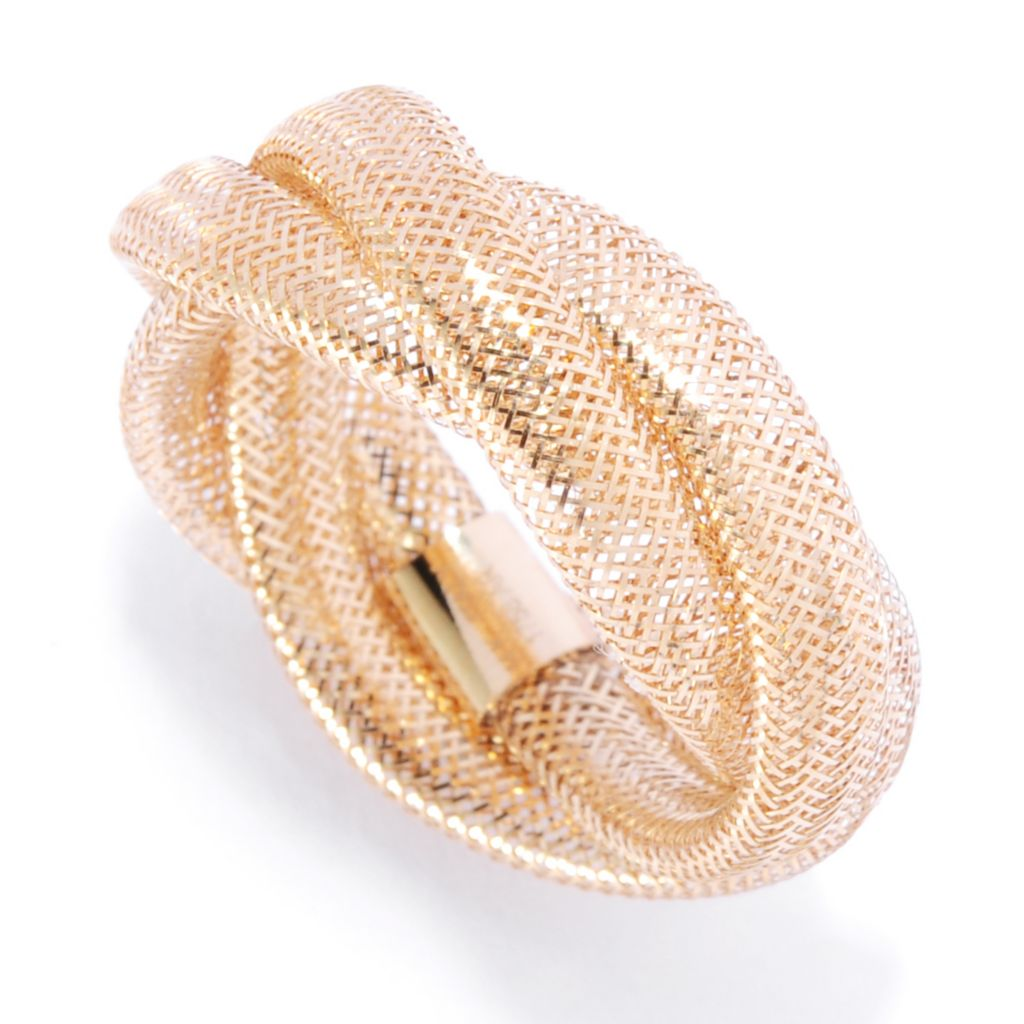 135-540 - Italian Designs with Stefano 14K Gold Three-Row Stretch Mesh Ring