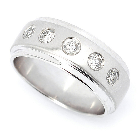 135-568 - Ultimate Silver™ 0.38ctw Diamond Five-Stone Anniversary Band Ring