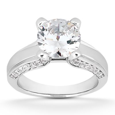 135-600 - Forever Brilliant® Moissanite 14K Gold 1.90 DEW Sparkle Filled Engagement Ring