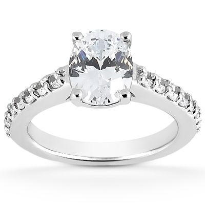 135-602 - Forever Brilliant® Moissanite 14K Gold 1.92 DEW Oval Engagement Ring