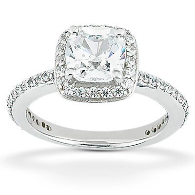 135-612 - Forever Brilliant® Moissanite 14K Gold 2.38 DEW Classic Cushion Cut Engagement Ring