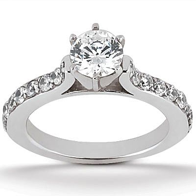 135-620 - Forever Brilliant® Moissanite 14K Gold 1.32 DEW Round Cut Engagement Ring
