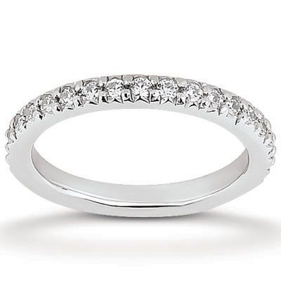 135-635 - Forever Brilliant® Moissanite 14K Gold 0.81 DEW Round Cut Petite Eternity Wedding Band