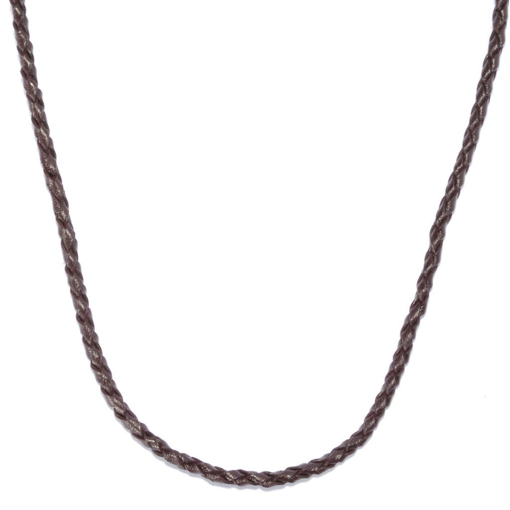 "135-645 - Men's en Vogue 22"" Braided Leather Cord Necklace"