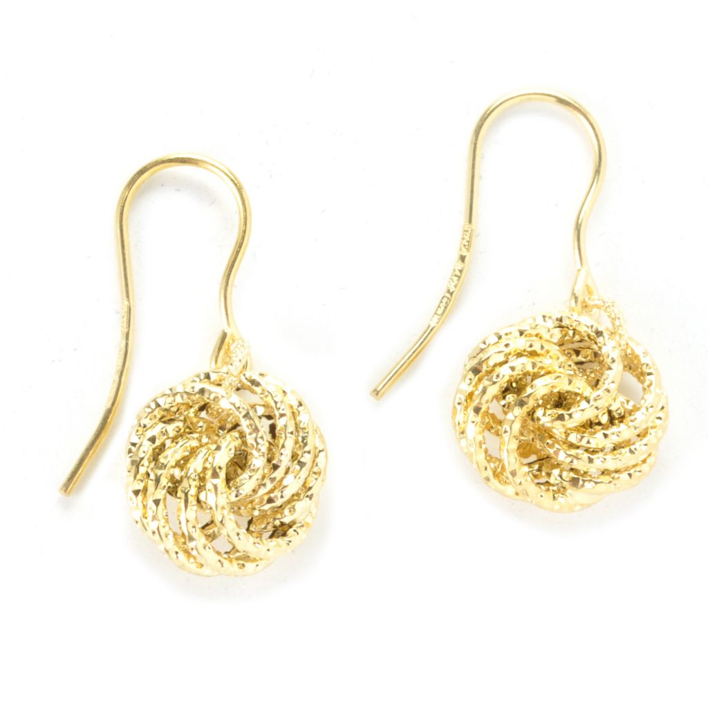 "135-763 - Italian Designs with Stefano 14K Gold 1"" Rosetta Link Earrings"