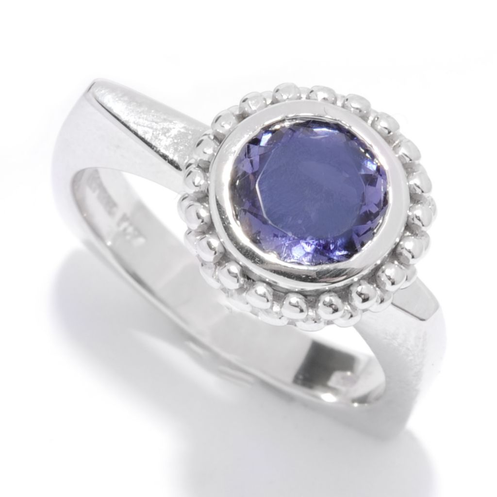 135-767 - NYC II Off-Centered Round Gemstone Euro Shank Ring