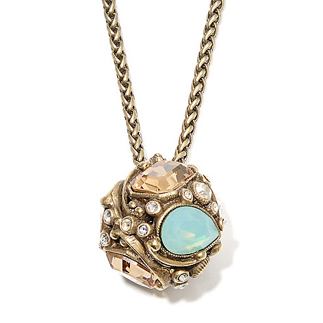 135-807 - Sweet Romance™ 29'' Multi Crystal Geometric Ball Necklace