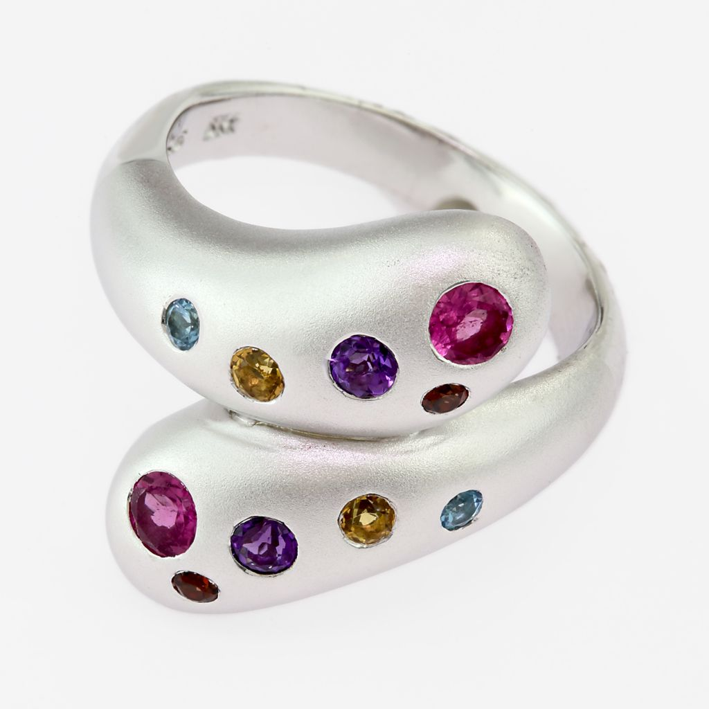 135-859 - EFFY Sterling Silver Multi Gemstone Wrap Ring