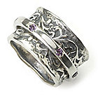 135-863 - Passage to Israel Sterling Silver Gemstone Spinner Ring