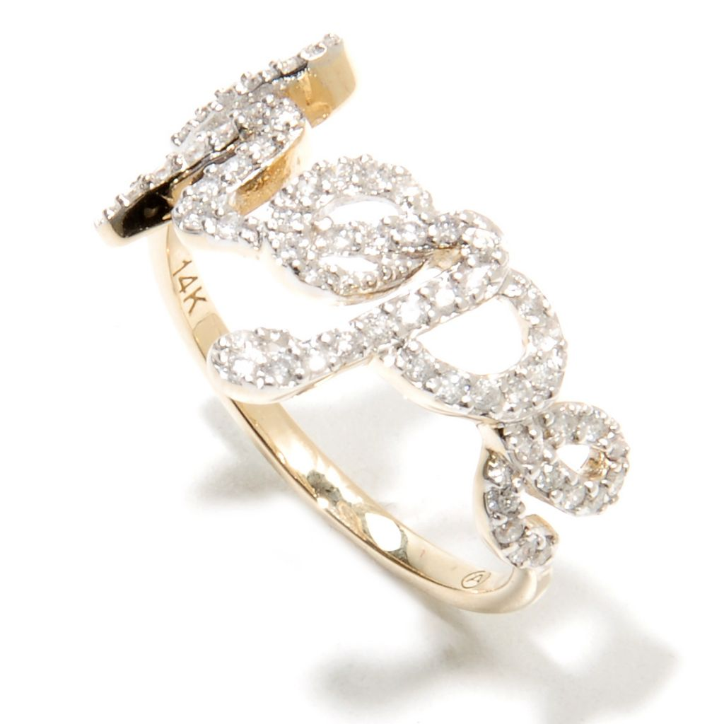 135-933 - Beverly Hills Elegance 0.30ctw Diamond Inspirational Word Ring