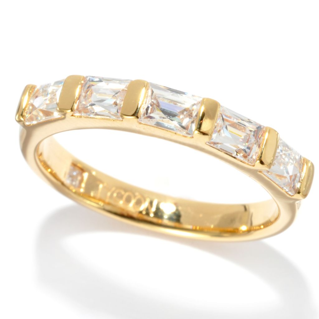 135-939 - TYCOON 1.02 DEW TYCOON CUT Simulated Diamond Five-Stone Band Ring