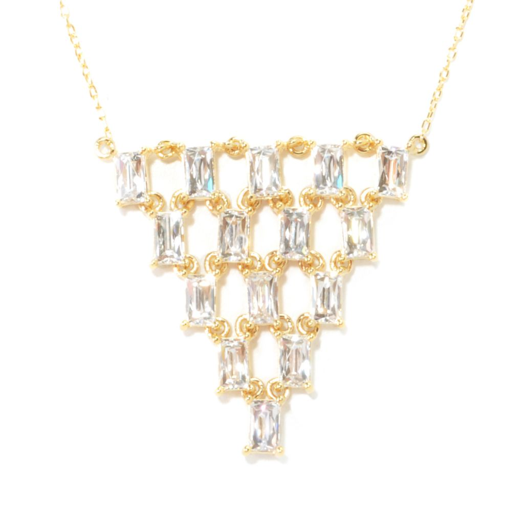"135-951 -  TYCOON 18"" 3.92 DEW TYCOON CUT Simulated Diamond Chandelier Necklace"