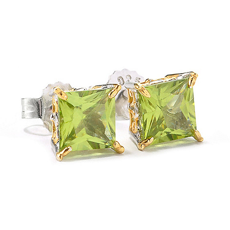 135-965 - Gems en Vogue 6mm Princess Cut Gemstone Stud Earrings