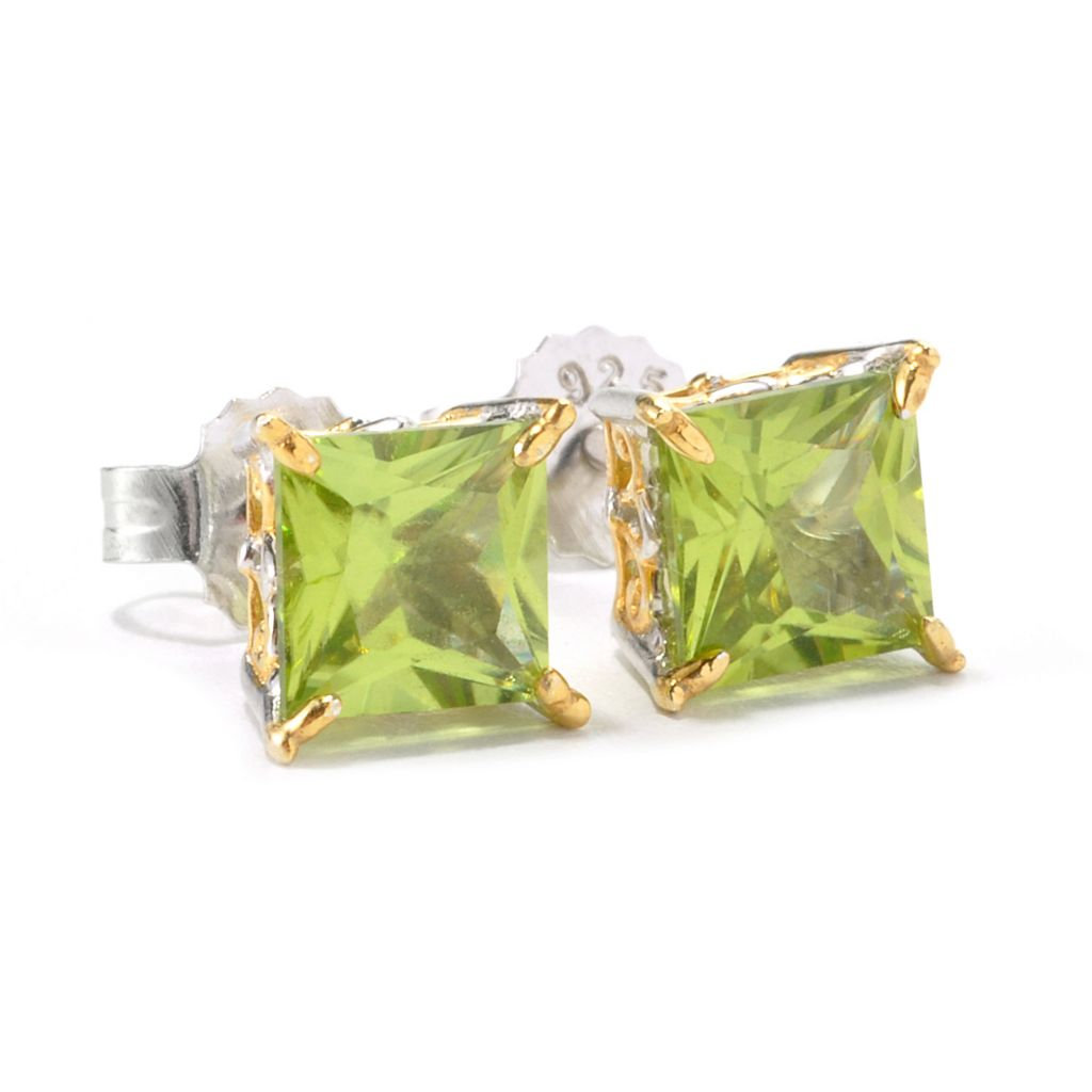 135-965 - Gems en Vogue II 6mm Princess Cut Gemstone Stud Earrings