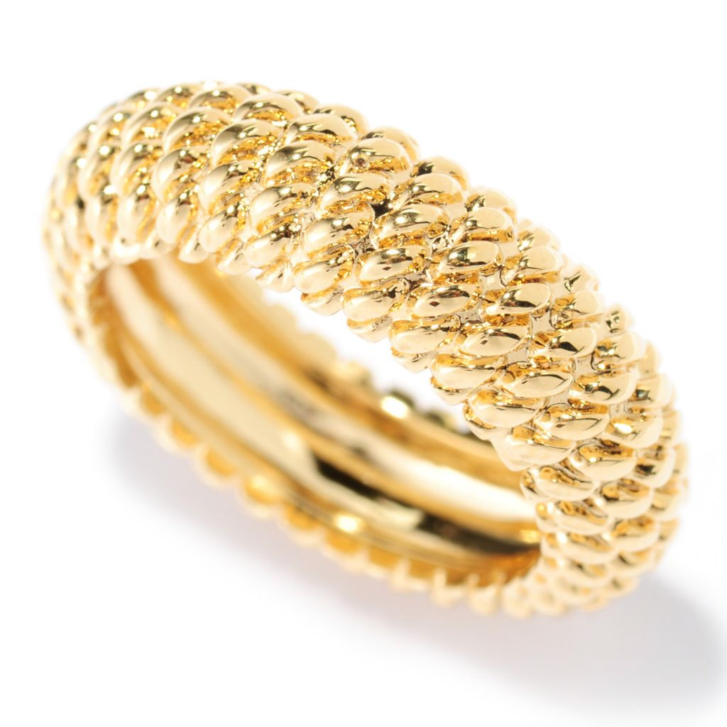 135-980 - Dettaglio 18K Gold Embraced™ Twisted Rope Textured Eternity Band Ring