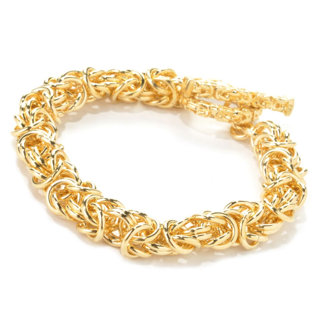 135-981 - Dettaglio™ 18k Gold Embraced™ Byzantine Link Toggle Bracelet