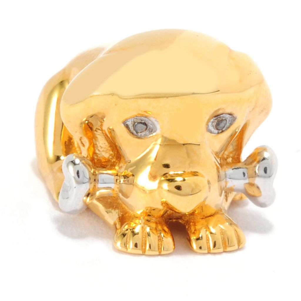 136-033 - Gems en Vogue Sculpted Dog Slide-on Charm