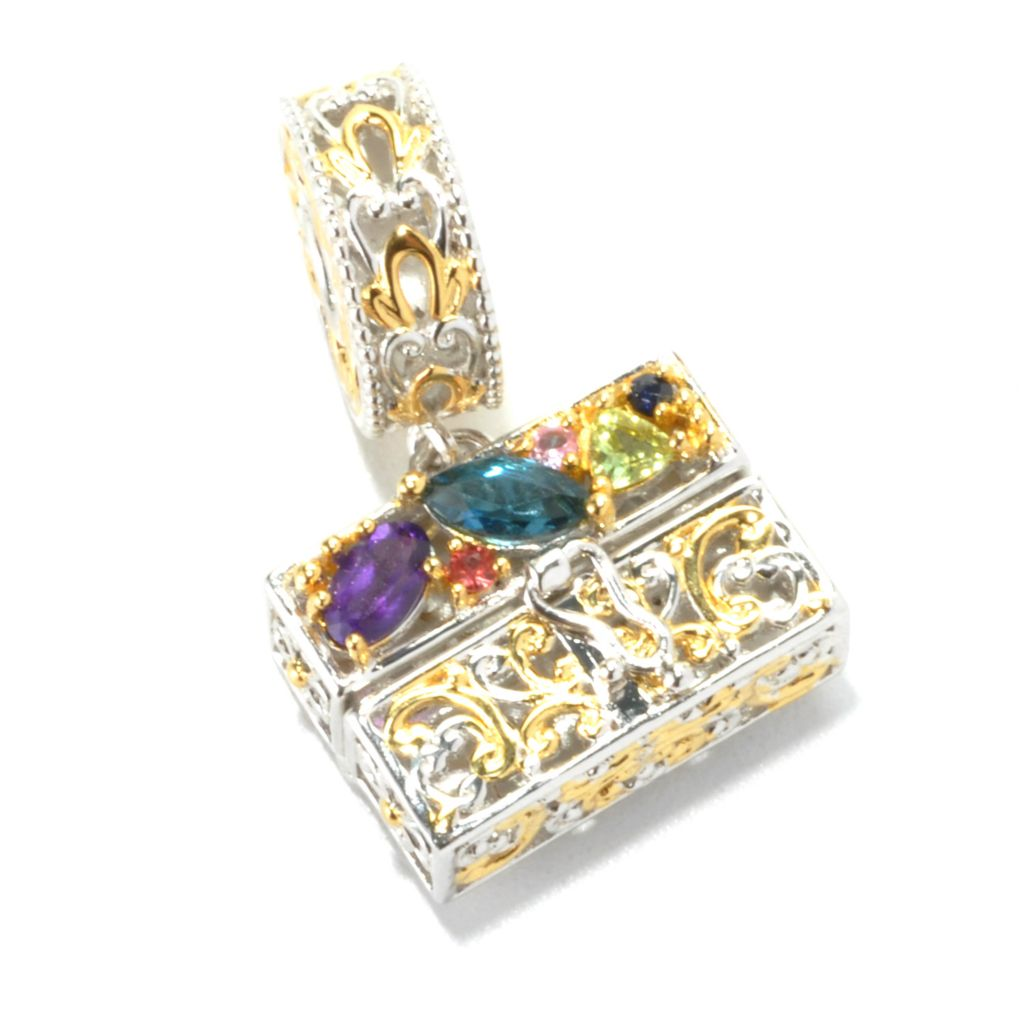 136-035 - Gems en Vogue II Multi Gemstone Handbag Drop Charm