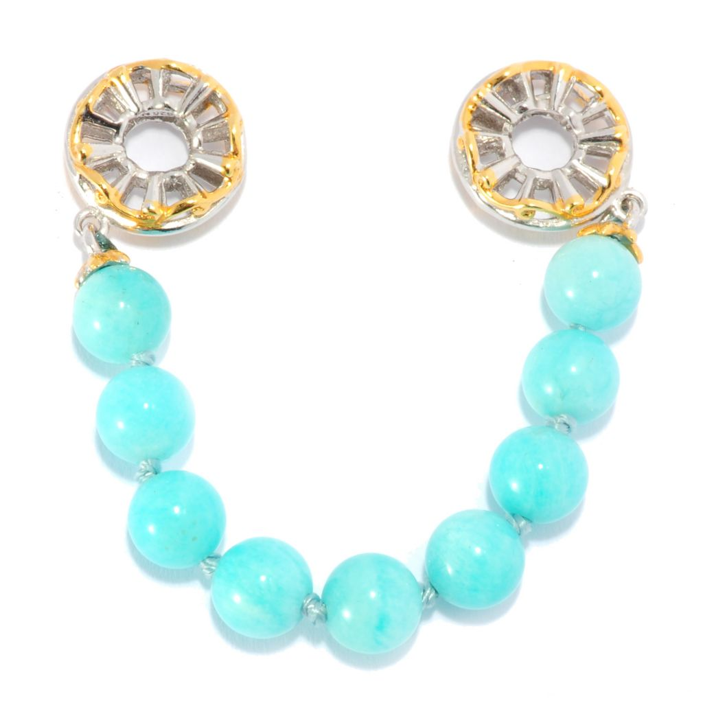 136-041 - Gems en Vogue II Peruvian Amazonite Bead Draping Strand Slide-on Charm
