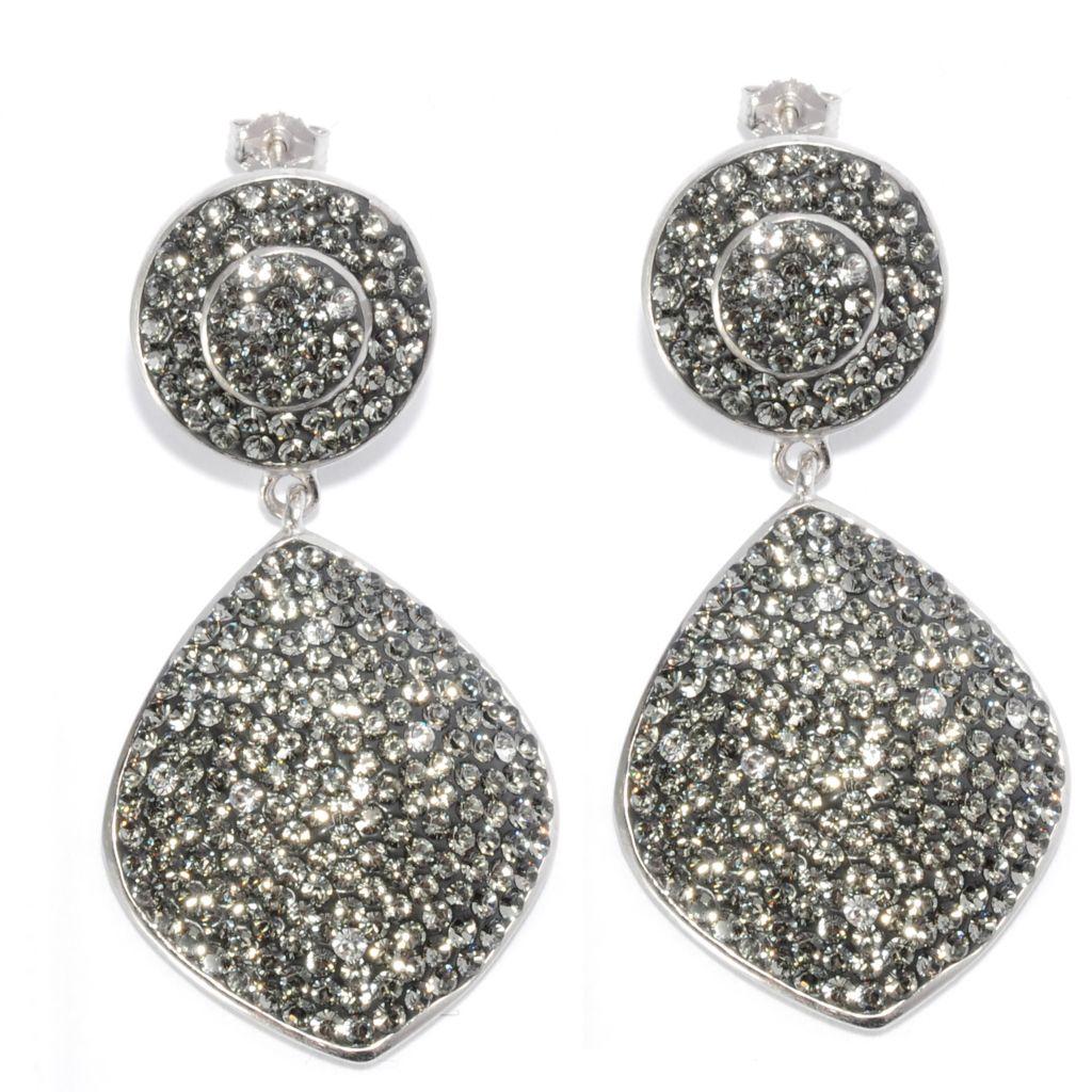 """136-144 - Adaire™ Sterling Silver 1.75"""" Drop Earrings Made w/ Swarovski® Elements"""