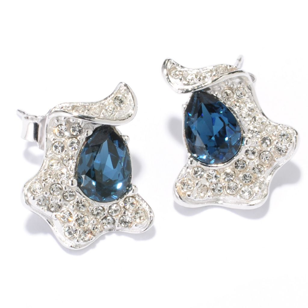 136-153 - Adaire™ Ribbon Stud Earrings Made w/ Swarovski® Elements