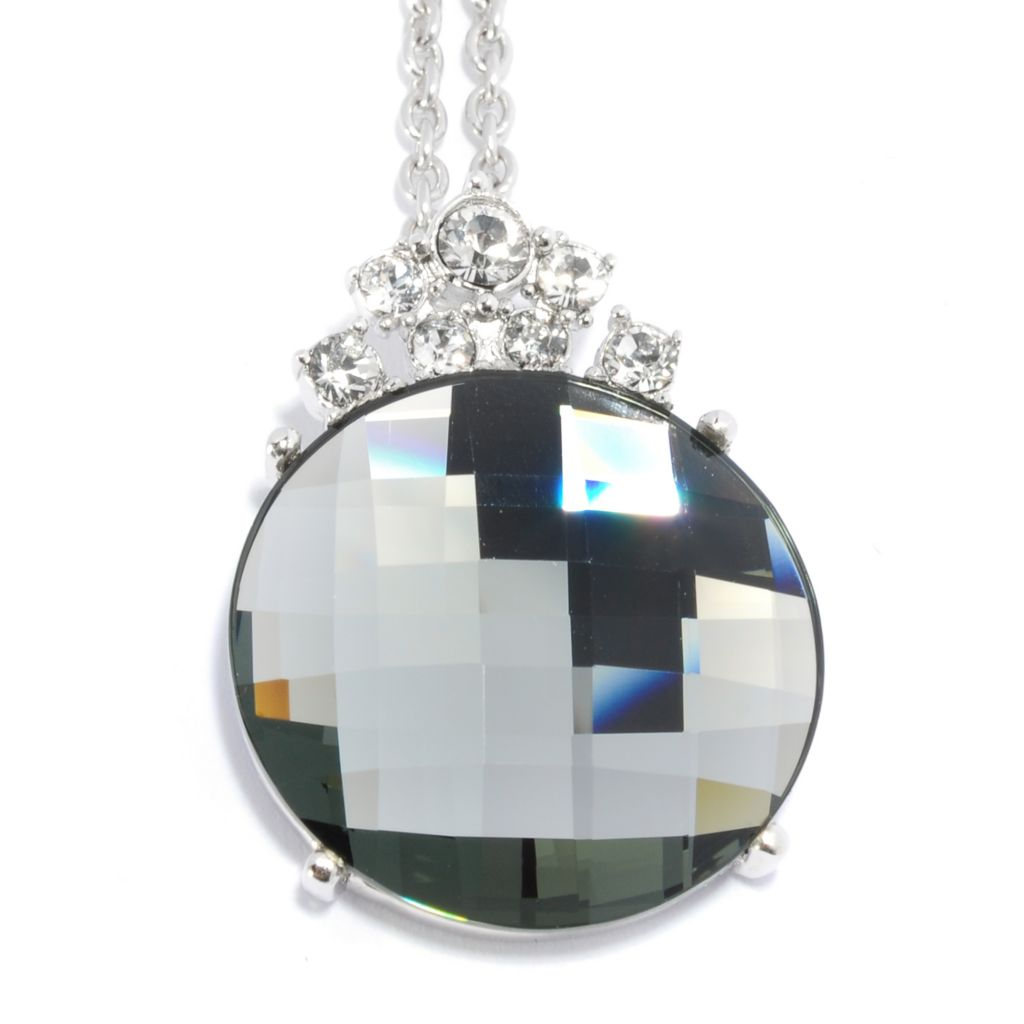 136-160 - Adaire™Sterling Silver Crown Pendant Made w/ Swarovski® Elements