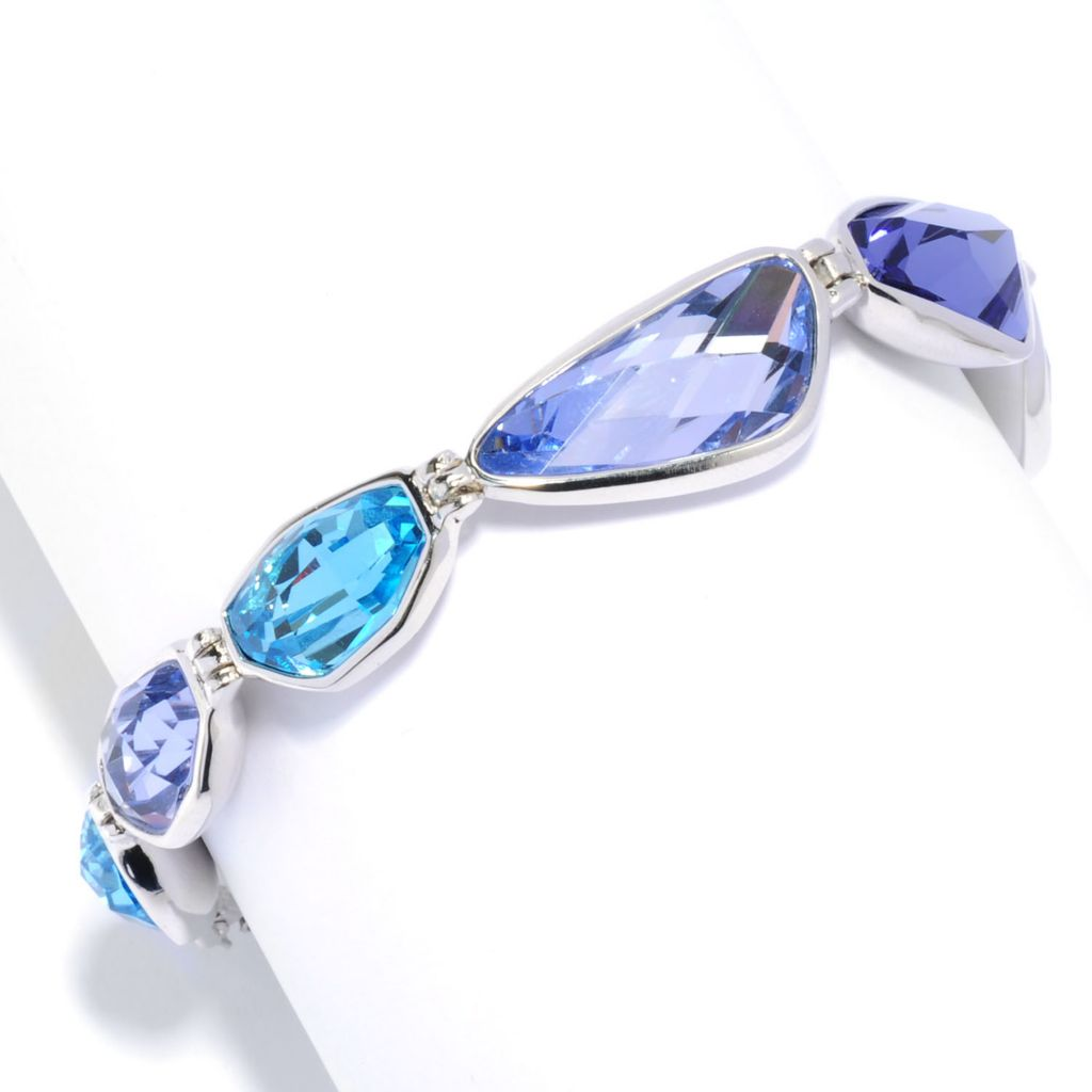 "136-164 - Adaire™ Sterling Silver 7.75"" Line Bracelet Made w/ Swarovski® Elements"